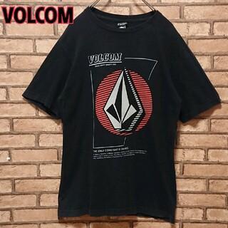 ボルコム(volcom)のVOLCOM ボルコム メンズ フロント ロゴ プリント ブラック Tシャツ(Tシャツ/カットソー(半袖/袖なし))