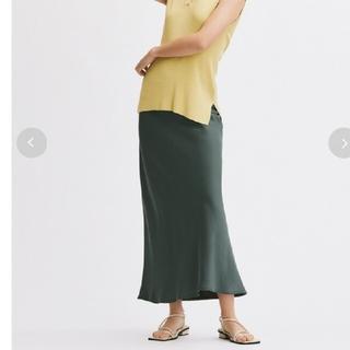Mila Owen - サテンバイアスロングスカート