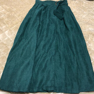 NICE CLAUP - ロングスカート 緑色