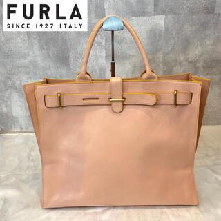Furla - 【FURLA】フルラ サーモンピンク レザー トートバッグ A4 イタリア製