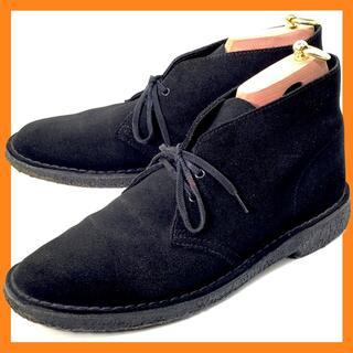 クラークス(Clarks)のクラークス UK8.5 デザートブーツ ブラック スエード 500629(ブーツ)
