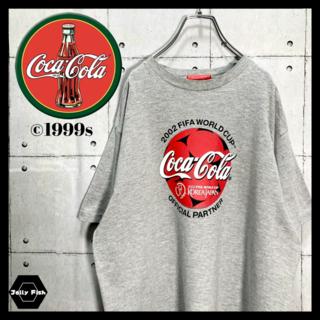 アートヴィンテージ(ART VINTAGE)の【レア】90's Coca-Cola/コカコーラ Tシャツ FIFAコラボ 古着(Tシャツ/カットソー(半袖/袖なし))
