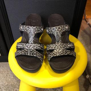 crocs - クロックスサイプラス レパード柄ヒールサンダルUS6