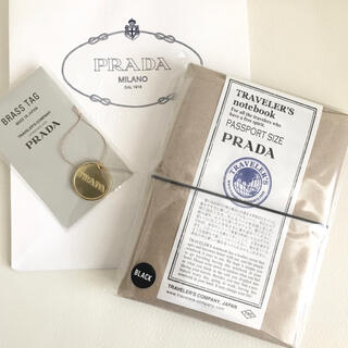 プラダ(PRADA)のPRADA ×トラベラーズファクトリー トラベラーズノート ブラスタグセット(ノート/メモ帳/ふせん)
