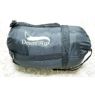 Desert fox寝袋 シュラフ キャンプ 防水 防災 圧縮ベルト 収納袋付き(寝袋/寝具)