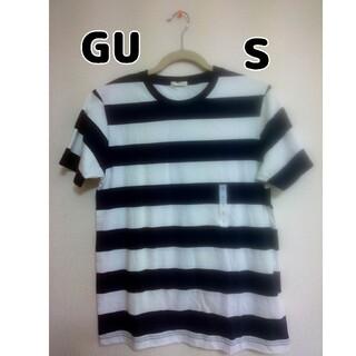 ジーユー(GU)の【新品・タグ付き】GU ボーダークルーネックT ネイビー Sサイズ(Tシャツ/カットソー(半袖/袖なし))