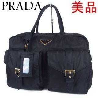 プラダ(PRADA)のプラダ 美品 ロゴ テスート ナイロン ボストン ハンド バッグ(ボストンバッグ)