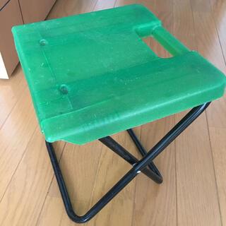 折りたたみチェアー  子供用 グリーン(折り畳みイス)