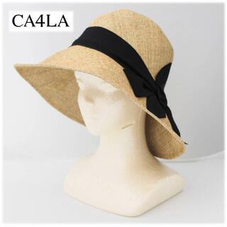 カシラ(CA4LA)の 《カシラ》 新品 紫外線を美しくガード サマーハット ワイドブリム 調整可能(ハット)