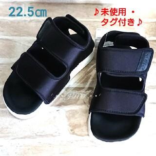 アディダス(adidas)のアディレッタ♡adidas アディダス 未使用 タグ付き 黒 サンダル ブラック(サンダル)