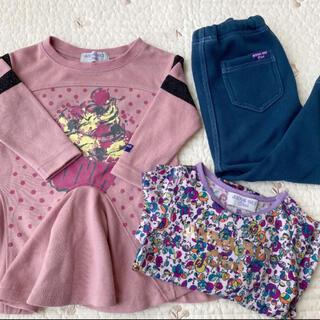 アナスイミニ(ANNA SUI mini)のANNA SUI mini チュニック 花柄Tシャツ レギンス  3点セット(Tシャツ)