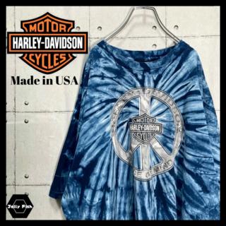 Harley Davidson - 【激レア】USA製 ハーレーダビッドソン 半袖 リメイク デカロゴ 2006年製