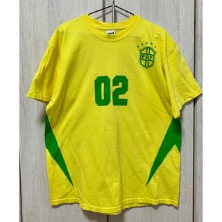 アンビル(Anvil)のフジロック フェスティバル 2002  Tシャツ Lサイズ 黄色 イエロー(Tシャツ/カットソー(半袖/袖なし))