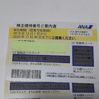 エーエヌエー(ゼンニッポンクウユ)(ANA(全日本空輸))のANA株主優待券2枚/全日空(航空券)