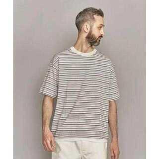 ビューティアンドユースユナイテッドアローズ(BEAUTY&YOUTH UNITED ARROWS)のBY ピンボーダー ワイドシルエット Tシャツ(Tシャツ/カットソー(半袖/袖なし))
