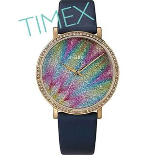 タイメックス(TIMEX)のTIMEXレディース腕時計 華麗なオーロラ模様 新品未使用(腕時計)