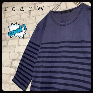 ロアー(roar)の【希少】roar ロアー/七分袖ロンT ハーフボーダー レア(Tシャツ/カットソー(七分/長袖))