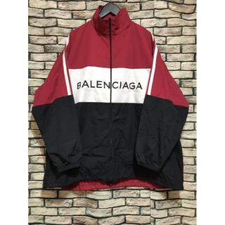 Balenciaga - バレンシアガ★ ロゴプリントポプリンナイロントラックジャケット