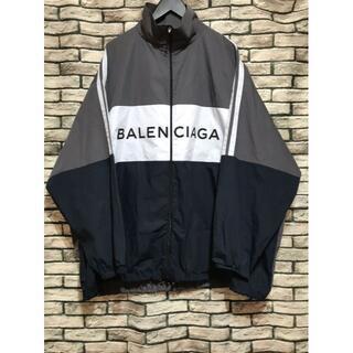 バレンシアガ(Balenciaga)のバレンシアガ★ ロゴプリントポプリンシャツコットントラックジャケット(ブルゾン)