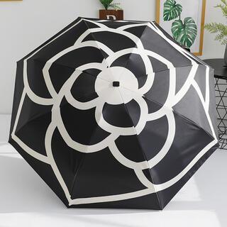 昨年即完売☆梅雨対策に♪レディース 晴雨兼用 傘 ブラック UVカット(傘)