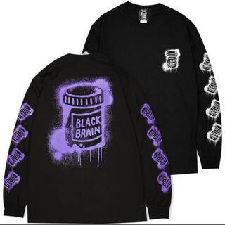 エクストララージ(XLARGE)のブラックブレイン ロンT パープル (Tシャツ/カットソー(七分/長袖))