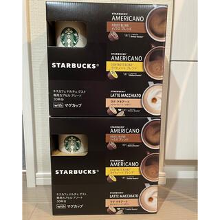 スターバックスコーヒー(Starbucks Coffee)のドルチェグスト アソート マグカップ付き2セット(コーヒー)