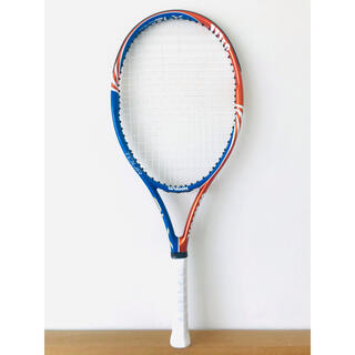 美品/ウィルソン『ツアーTOUR BLX 105』テニスラケット/オレンジブルー