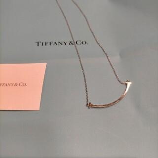 Tiffany & Co. - 美品。ティファニーティースマイルネックレスホワイトゴールド