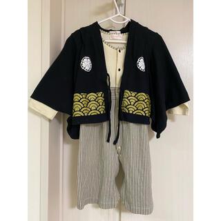 袴ロンパース 袴 男の子 90(和服/着物)