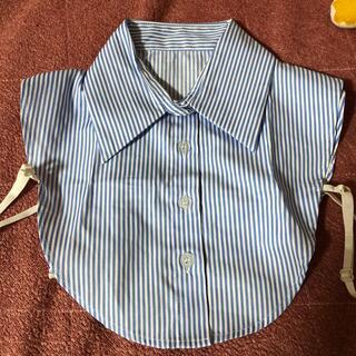 シマムラ(しまむら)のつけ襟 新品 ストライプ(つけ襟)
