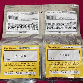 ルピシア(LUPICIA)のルピシア ボンマルシェ  ピーチ緑茶 フレーバードティー  50g×2個(茶)