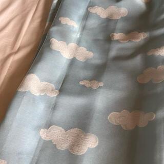 雲カーテン&ミラーレースカーテン4枚セット 100×200(カーテン)