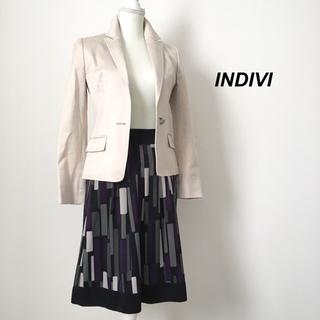 インディヴィ(INDIVI)のINDIVI インディヴィ 大人可愛いフレアスカート(ひざ丈スカート)