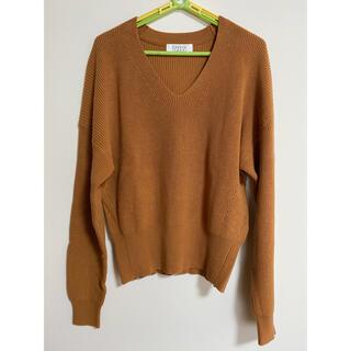 LOWRYS FARM - Vネック綿ニット セーター