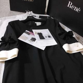 René - Reneルネ♡2019 極美品 お袖リボンワンピース34♡フォクシー