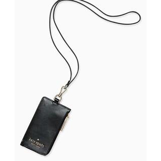 ケイトスペードニューヨーク(kate spade new york)の【ケート・スペード ニューヨーク】 ブラック カードフォルダー(パスケース/IDカードホルダー)