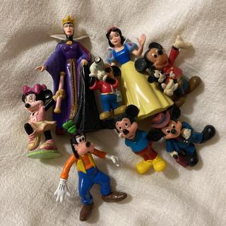 ディズニー(Disney)の【used】Disney ミッキー ミニー グーフィー 白雪姫 フィギュア(キャラクターグッズ)