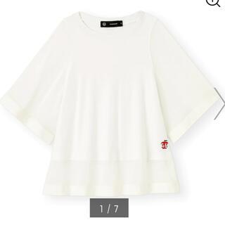 アンダーカバー(UNDERCOVER)のアンダーカバー gu  シアーtシャツ オフホワイト Mサイズ(Tシャツ/カットソー(半袖/袖なし))