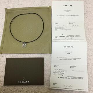 Vendome Aoyama - 新品未使用ルジアダの本革レザーネックレス ホワイトゴールド ダイヤモンド