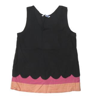 イーリーキシモト(ELEY KISHIMOTO)のELEY KISHIMOTO 裾切り替え ノースリーブシャツ レディース(シャツ/ブラウス(半袖/袖なし))