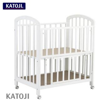 KATOJI - ミニベビーベッド ビアンコ2 ハイタイプ マットレス シーツ キルトパッド