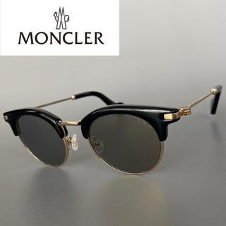 MONCLER - モンクレール ブラック ゴールド ミラー サングラス ボストン サーモント 黒
