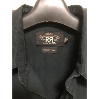 ダブルアールエル(RRL)のRRLウエスタンシャツ ブラック(シャツ)