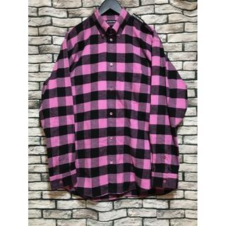 Balenciaga -  バレンシアガ★20AW ショルダーロゴタブオーバーサイズチェックシャツ