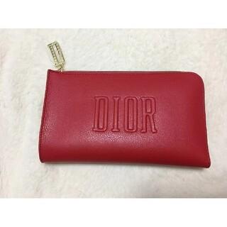 Dior - DIOR レッド 化粧ポーチ 未使用