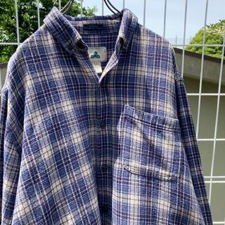 サンタモニカ(Santa Monica)の90s チェックシャツ オーバーサイズ ブルガリア製 vintage(シャツ/ブラウス(長袖/七分))