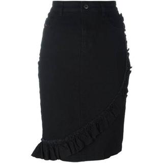ディーゼル(DIESEL)のフリルデニムスカート(ひざ丈スカート)