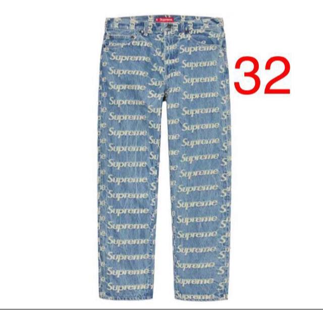 Supreme(シュプリーム)のSupreme Frayed Logos Regular Jean Blue  メンズのパンツ(デニム/ジーンズ)の商品写真