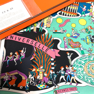 Hermes - 【新品未使用】Hermes エルメススカーフ ☆カレ90☆万国博覧会