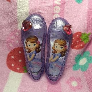 ディズニー(Disney)の【ソフィア】キラキラ光るプリンセスパンプス(サンダル)